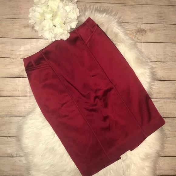 86f0e65718cf2a White House Black Market Skirts | New Whbm Ruby Satin Pencil Skirt ...